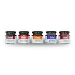 Set of 5 mini jars of jam